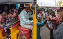 Hyderabad: Auto Overturns, 2 School kids hurt