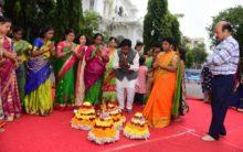 Bathukamma festival celebration in Assembly