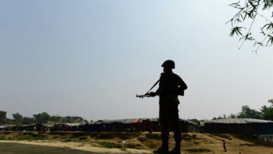 Photo of Bangladesh troops accused of raping Rohingya girl