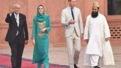 Photo of Kate Middleton, Prince William visit Badshahi Masjid in Lahore