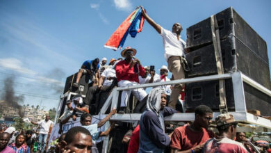 Photo of Thousands protest against Haiti's president