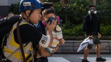 Photo of Tear gas and molotovs as Hong Kong reels from new clashes