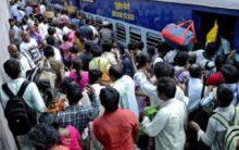 RTC strike: Travellers throng Railway stn