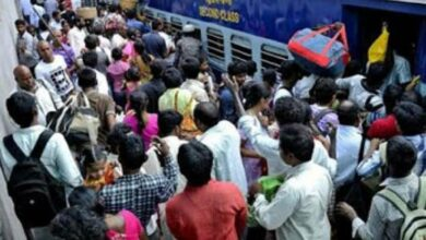 Photo of RTC strike: Travellers throng Railway stn