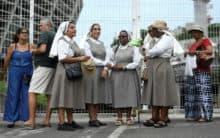 Thousands of Catholic faithful in Brazil celebrate female saint
