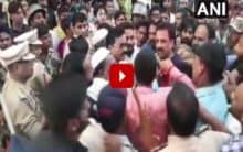 AIMIM, NCP workers clash, police resort to lathicharge