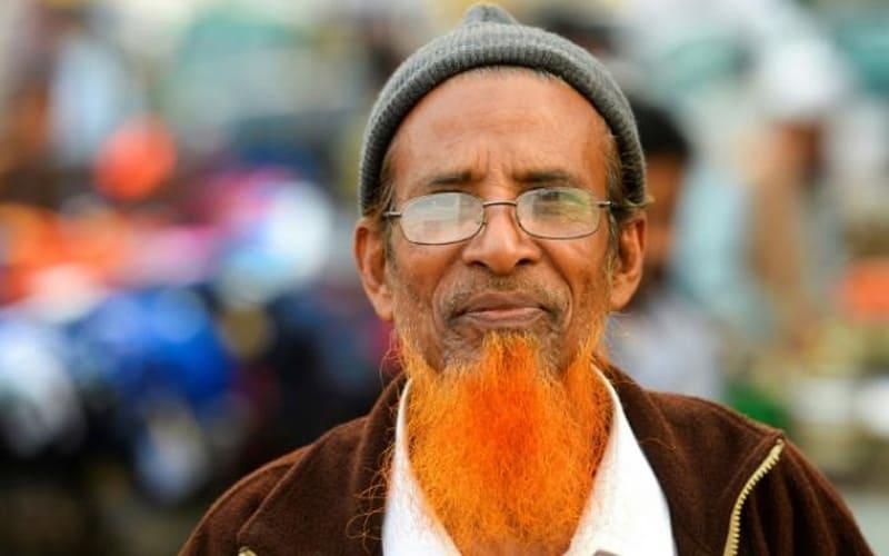 Hues of orange takes over Bangladesh beards