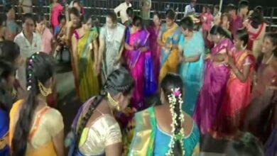 Photo of Telangana: Women celebrate Bathukamma in Hyderabad