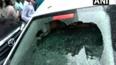 Photo of BJP candidate Shah's car vandalized by sitting MLA's supporters