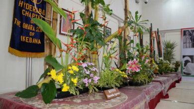 Photo of Ikebana Exhibition at Salarjung Museum