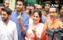 Uddhav Thackeray casts vote along with his family