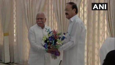 Photo of Manohar Lal Khattar meets Vice President Venkaiah Naidu