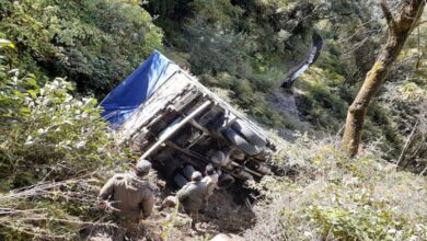 Photo of Vehicle falls into gorge in Arunachal