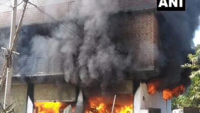 Photo of Himachal Pradesh: Fire breaks out at a godown in Mandi district