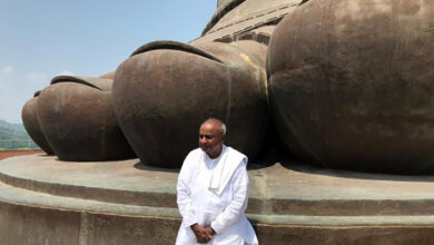 Photo of Former PM HD Deve Gowda visited the Statue of Unity in Gujarat