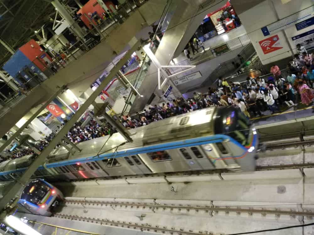 Hyderabad Metro scores record 4-lakh footfall
