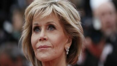Photo of Jane Fonda arrested at climate change protest