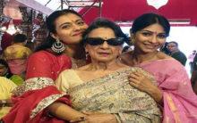 Kajol kicks off Durga Puja celebrations with mother, sister