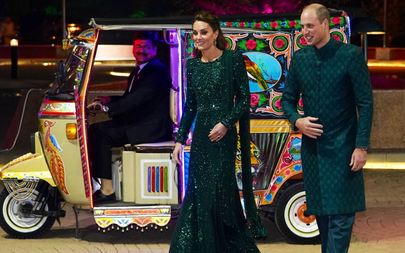 Image result for kate and william in rickshaw
