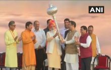 Delhi: PM Modi attends Dussehra celebrations