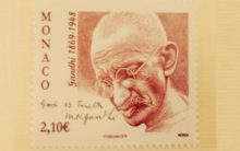 Monaco releases commemorative postage stamp on Mahatma Gandhi