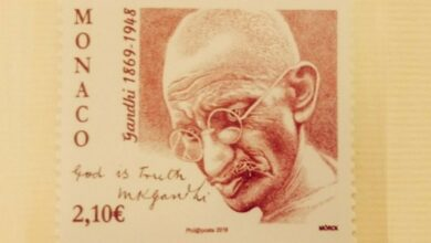 Photo of Monaco releases commemorative postage stamp on Mahatma Gandhi