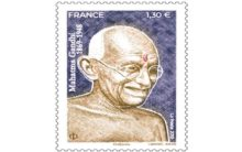 Mahatma Gandhi figures on postage stamp issued in France