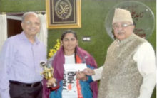 Zahid Ali Khan felicitates Martial Arts Champion Samreen Fatima
