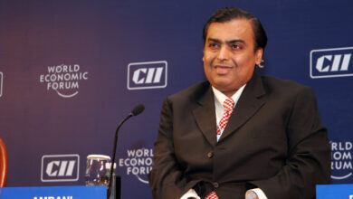 Photo of Mukesh Ambani named world's ninth richest, with 2 others