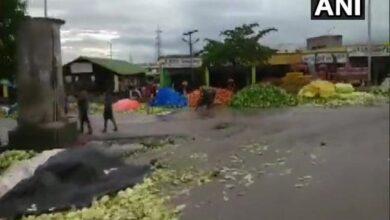 Photo of Mysuru: Vegetables thrown on roads following dip in prices
