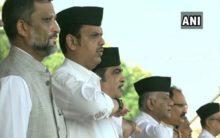 Maharashtra CM, Nitin Gadkari, others attend RSS Vijaydashmi event