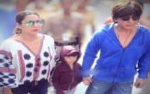 Shah Rukh Khan celebrates Diwali with AbRam, Gauri Khan