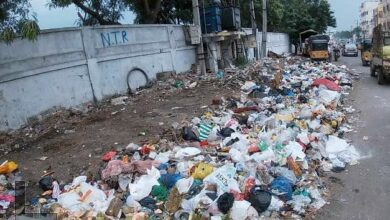 Photo of GHMC staff neglect garbage removal