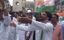 Congress leader arrested at Charminar while protesting for TSRTC