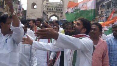 Photo of Congress leader arrested at Charminar while protesting for TSRTC