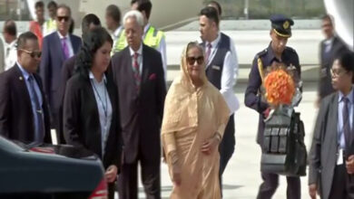 Photo of Bangladesh PM Sheikh Hasina arrives in India on 4-day visit