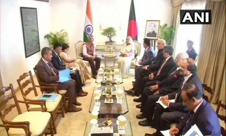 Jaishankar meets Bangladesh PM Sheikh Hasina