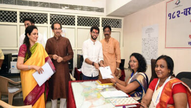 Photo of Maharashtra polls: Aaditya Thackeray files nomination from Worli