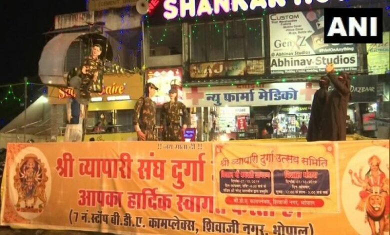 MP: Surgical Strike themed tableau at Durga Puja pandal in Bhopal