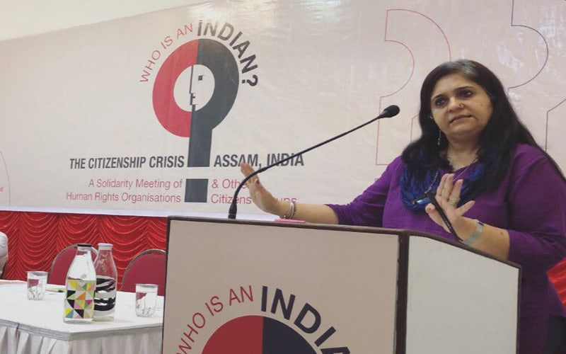 NRC and its solution: Teesta holds public meeting at Siasat