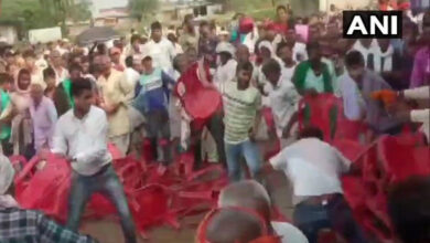Photo of Scuffle between RJD workers at Tejashwi's rally