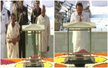 President Kovind,VP Naidu pay tributes to Mahatma Gandhi at Rajghat