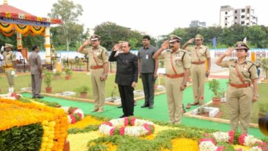 Mahmood Ali pays homage to police martyrs in Hyderabad