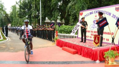 Photo of AOC cycling expedition flagged in