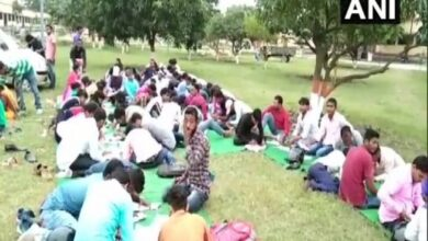 Photo of Students forced to write exams in open due to space crunch