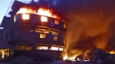 Photo of Devastating fire breaks out at plastic factory in Gujarat