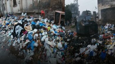 Photo of Heaps of garbage lying in Old city streets
