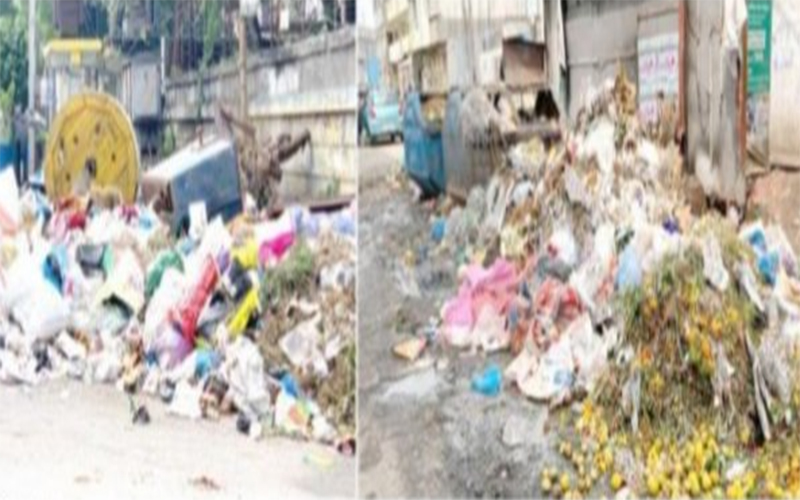 Hyderabad: Major city roads turned into dustbins