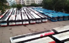 Deserted look of Bus Station