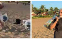 FACT CHECK: Was Modi's plogging exercise at beach staged?